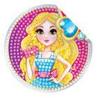 Алмазная вышивка наклейка для детей «Модница»