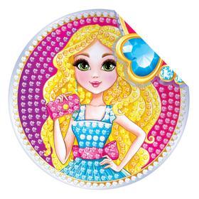 Алмазная вышивка наклейка для детей «Модница» Ош
