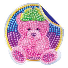 Алмазная вышивка наклейка для детей «Медвежонок», 10 х 10 см. Набор для творчества Ош