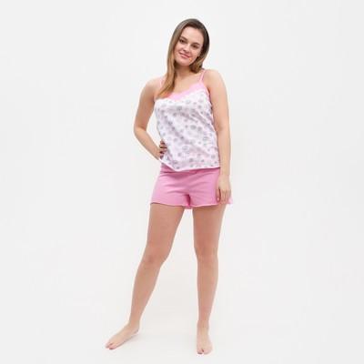 Пижама женская (майка, шорты), цвет МИКС, размер 50