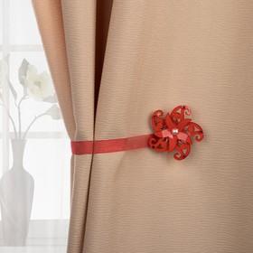 Подхват для штор «Ветерок», d = 6,5 см, цвет красный Ош