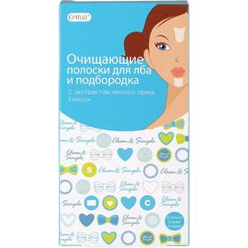 Полоски для носа, лба и подбородка очищающие Cettua, 6 шт