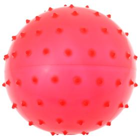 Мячик массажный, матовый пластизоль, d=18 см, 43 г, МИКС Ош
