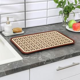 Поднос с вкладышем для сушки посуды, 46×30 см, цвет МИКС