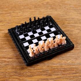 Игра настольная 'Шахматы' на магните, 8.5х8.5 см, микс Ош