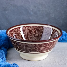 Коса большая Риштанская Керамика, 18см, коричневая Ош