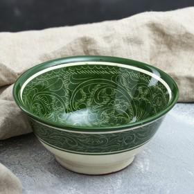 Коса большая Риштанская Керамика, 18см, зелёная Ош