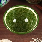 Пиала большая Риштанская Керамика, 11.5см, зелёная - Фото 2