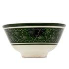 Пиала большая Риштанская Керамика, 11.5см, зелёная - Фото 4
