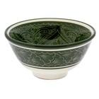 Пиала большая Риштанская Керамика, 11.5см, зелёная - Фото 5