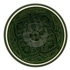 Пиала большая Риштанская Керамика, 11.5см, зелёная - Фото 6