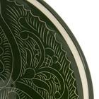 Пиала большая Риштанская Керамика, 11.5см, зелёная - Фото 7