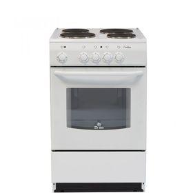 Плита De Luxe 5004.12 Э, электрическая, 4 конфорки, 43 л, эмаль, без гриля, белая Ош
