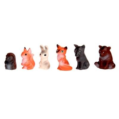 Набор резиновых игрушек «Животные леса» - Фото 1