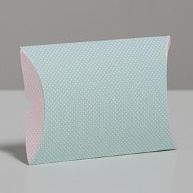 Коробка складная фигурная «Белый горошек», 11 × 8 × 2 см