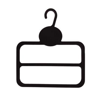Вешалка для шарфов L=13.5, два яруса, (фасовка 10 шт), цвет чёрный