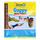Корм TetraGuppy для рыб, мини-хлопья, пакет, 12 гр.