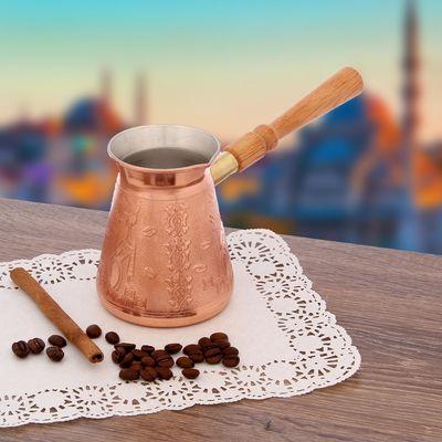 Кофеварка медная TimA «Арабика», 300 мл, съёмная ручка - Фото 1