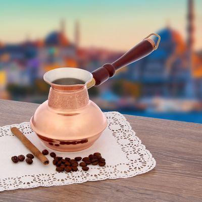 Кофеварка медная TimA «Славяночка», 500 мл, съёмная ручка - Фото 1