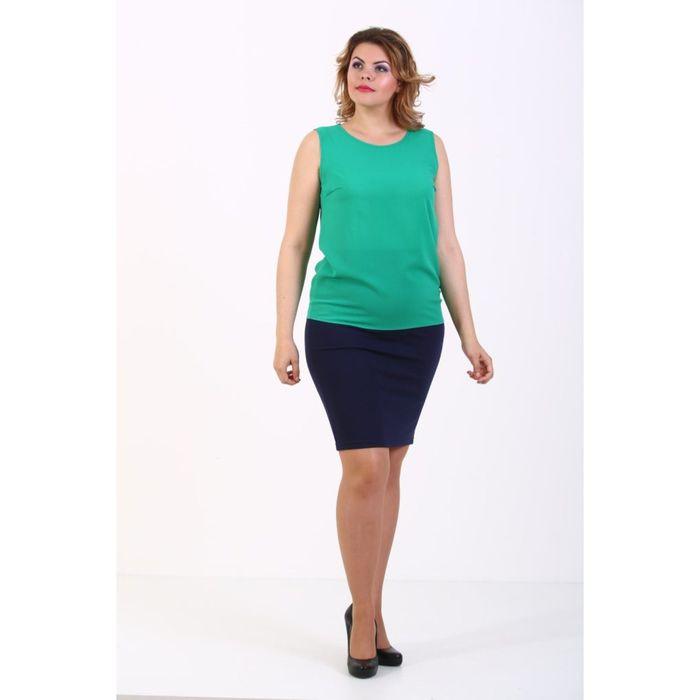 Топ женский, размер 48, цвет зелёный