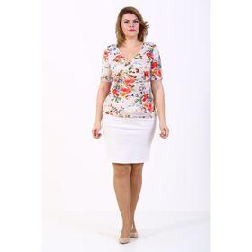 Блузка женская, размер 50, цвет бежевый