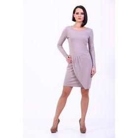 Платье женское, размер 42, цвет светло-кофейный
