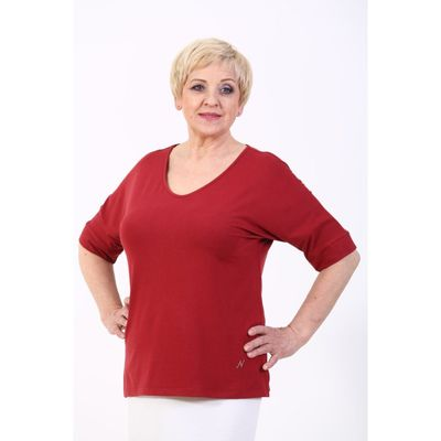 Туника женская, размер 50, цвет бордо - Фото 1