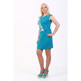 Платье женское, размер 42, цвет бирюза