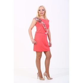 Платье женское, размер 42, цвет коралл