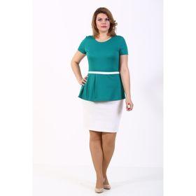Блузка женская, размер 48, цвет зелёный
