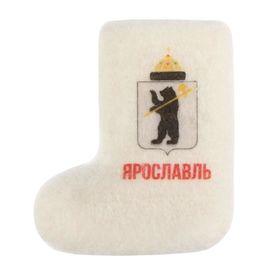 Магнит-валенок из войлока «Ярославль. Герб города», ручная работа Ош