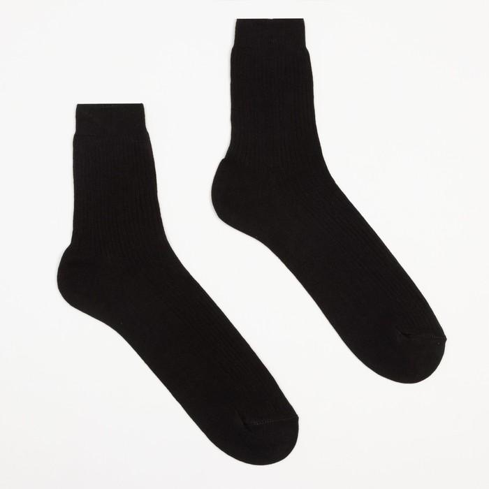 Носки мужские, размер 25, цвет чёрный