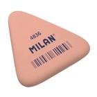 Ластик Milan 4836, треугольный 50x44x7 мм, синтетический каучук, микс