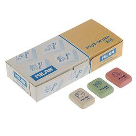 Ластик Milan 445, прямоугольный 31x23x7 мм, синтетический каучук, микс