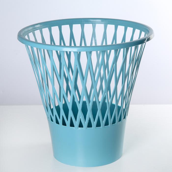 Ведро для мусора, круглое 12 л, цвет МИКС
