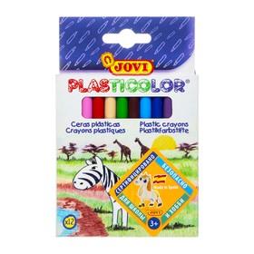 Карандаши пластиковые 12 цветов JOVI, круглые