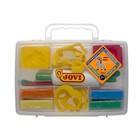 Набор для лепки JOVI: пластилин 8 цветов, 200 г, растительный, 12 формочек, 3 стека, скалка; в чемодане