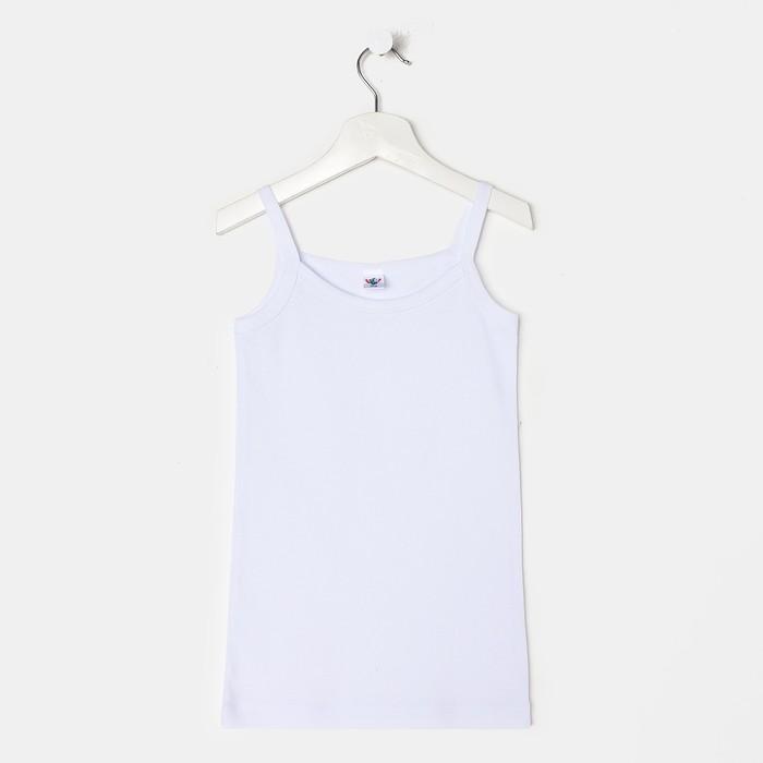Майка для девочки, цвет белый, рост 110-116 см