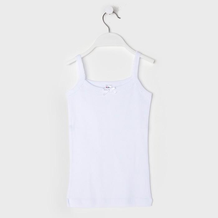 Майка для девочки, цвет белый, рост 146 см