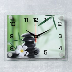 "Часы настенные, серия: Цветы, ""Цветок"", 20х26 см  микс"
