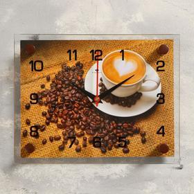 Часы настенные, серия: Кухня, 'Кофе', 20х26  см, микс Ош
