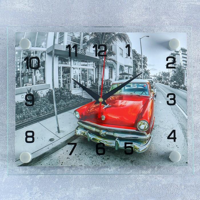 Часы настенные, серия Транспорт, Ретро автомобиль, 20х26 см микс