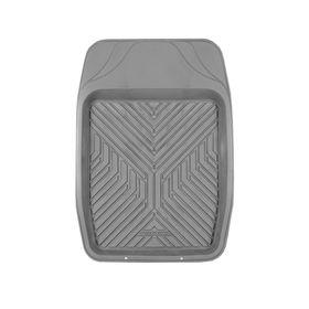 Коврик автомобильный универсальный AUTOPROFI TER-150f GY для переднего ряда, универсальный, ванночка, термопласт, 69х48 см, цвет серый Ош