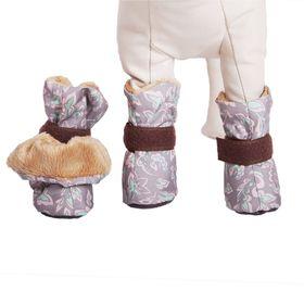 Ботиночки на меху OSSO, внутренний размер по лапе S (5,5 х 3,5 х 8 см), микс цветов Ош