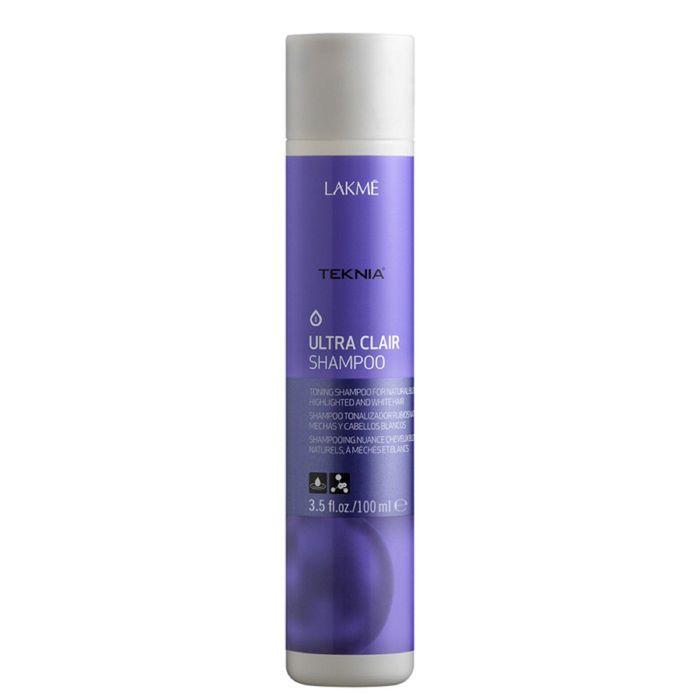 Тонирующий шампунь для обесцвеченных, натуральных светлых и седых волос Lakme Teknia Ultra Clair Refresh, 100 мл