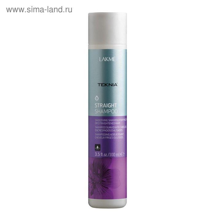 Шампунь для гладкости волос с нарушенной структурой или химически выпрямленных волос Lakme Teknia Straight, 100 мл
