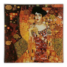 Тарелка квадратная «Золотая Адель», 13х13 см Ош