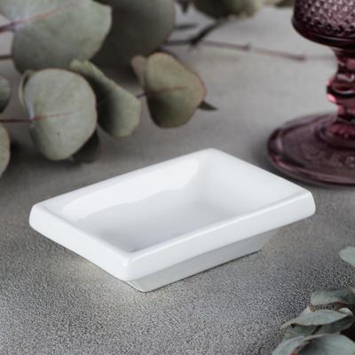 Соусник, 9×6×2,5 см, цвет белый - Фото 1