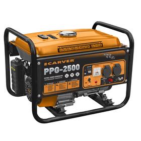 Генератор CARVER PPG - 2500, бенз., 2.1/2.3 кВт, 220 В, бак 15 л, обмотка медь Ош