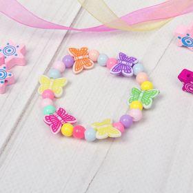 Браслет детский 'Выбражулька' бабочки порхающие, цвет МИКС Ош